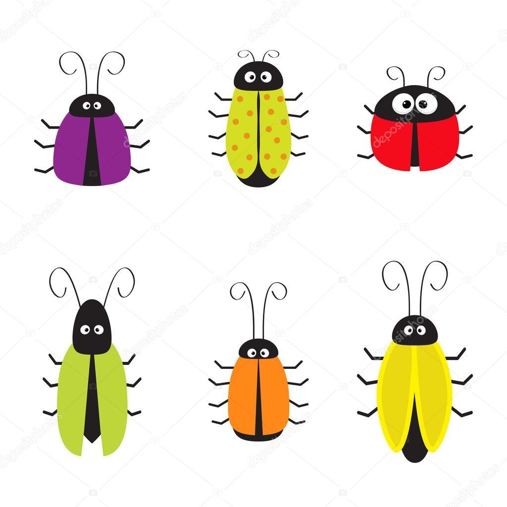 かわいいバグ ゴキブリ セット ストックベクター Worldofvector