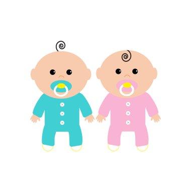 Twins Two cute twin babies
