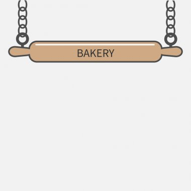 Bakery signboard in flat design