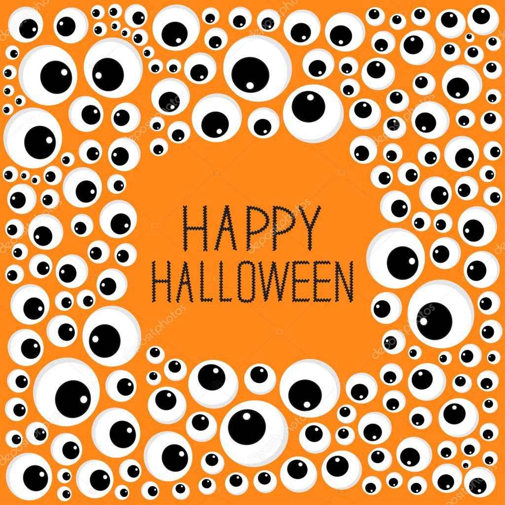 Tarjeta de Halloween ojos marco — Archivo Imágenes Vectoriales ...