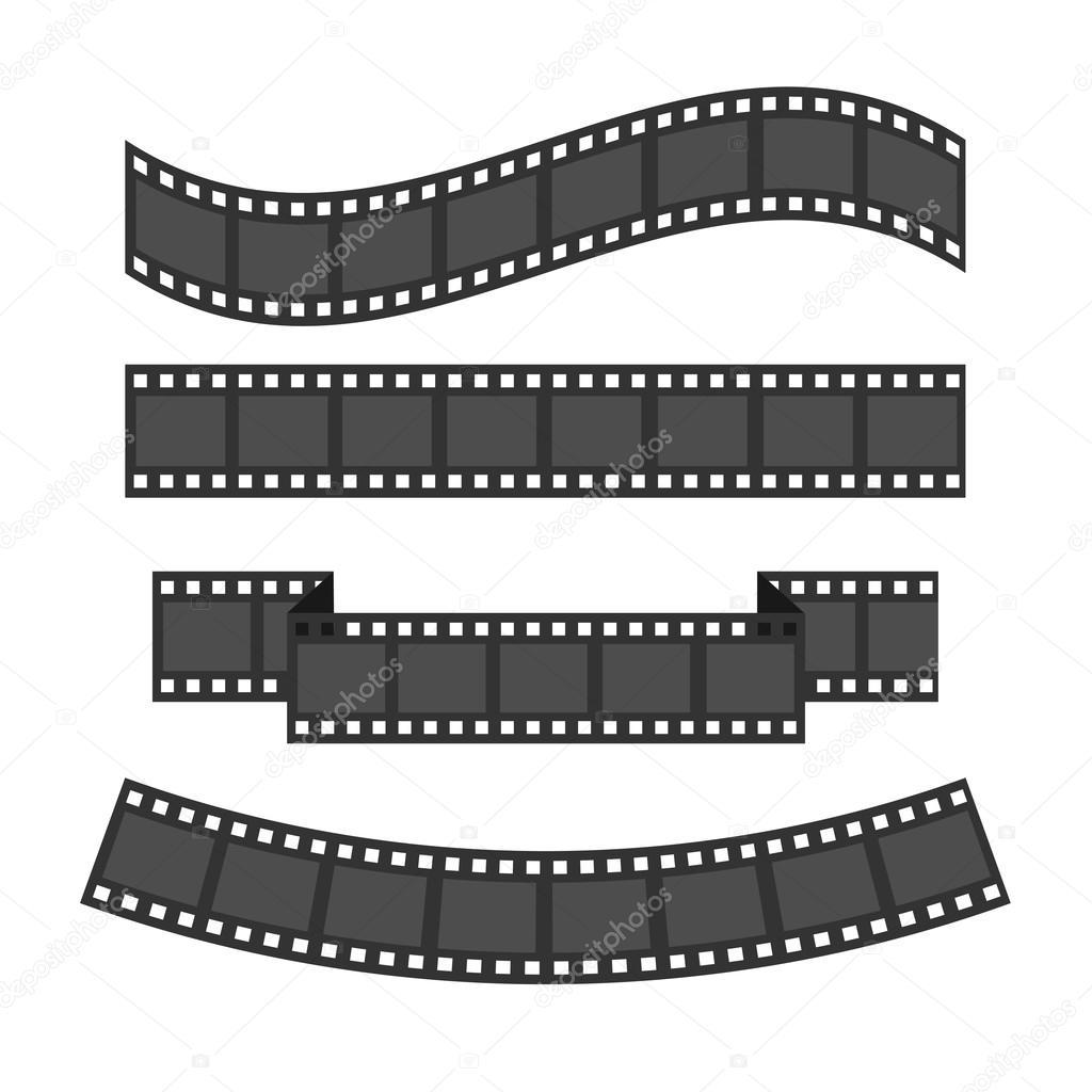 Film strip frame set — Stock Vector © worldofvector #97898984
