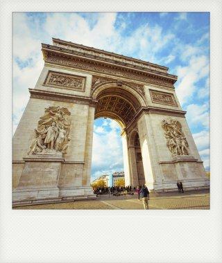 Instant photo of Arch of Triumph in Paris