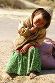 asijské děti, chudí, špinavé vietnamské dítě