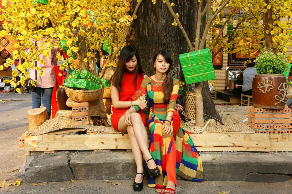 Vietnam Tet, Ho Chi Minh city in springtime