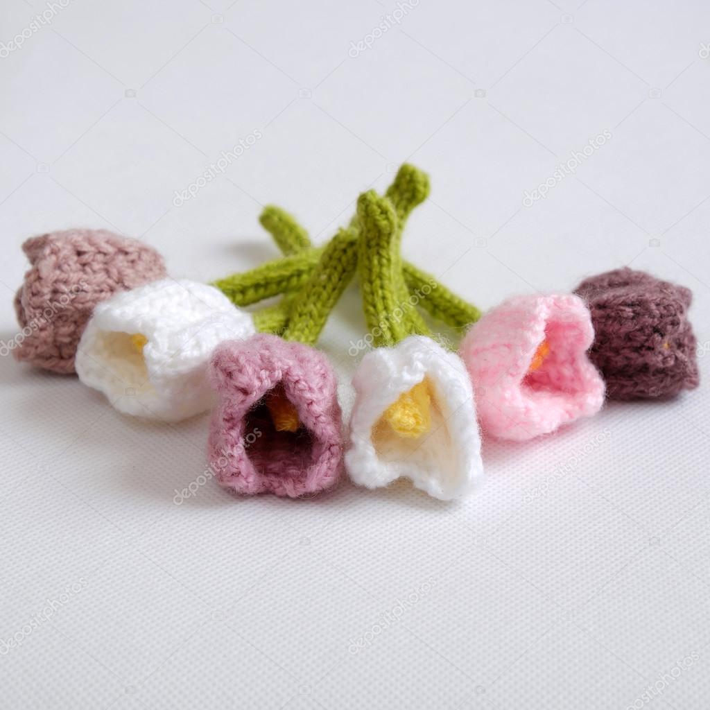 Spring Flower Handmade Tulip Diy Knit Stock Photo C Xuanhuongho