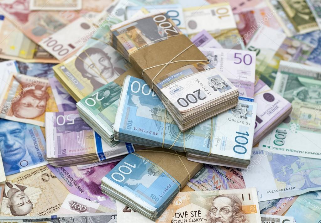 Serbian Dinar On The Table Stock Photo Goldy 95873428