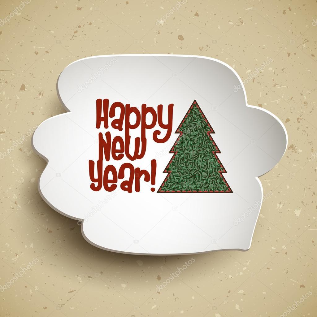 Happy new year speech bubble — Stock Vector © Greenvalley #72108075