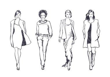 Women fashion models