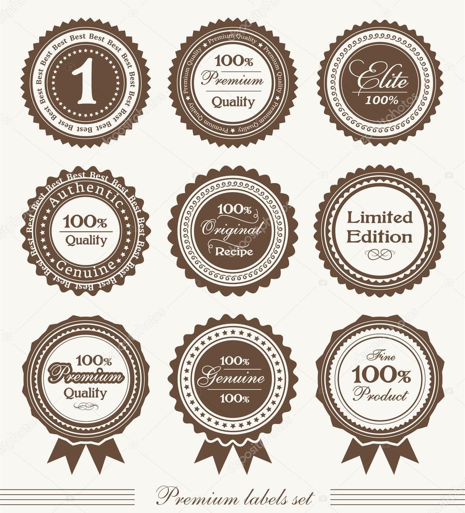 Premios a la calidad premium y cintas — Vector de stock