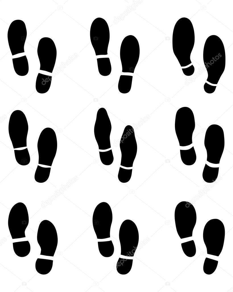 purchase cheap 51d97 e0090 Impronte di scarpe — Vettoriali Stock © ratkomat #67687371