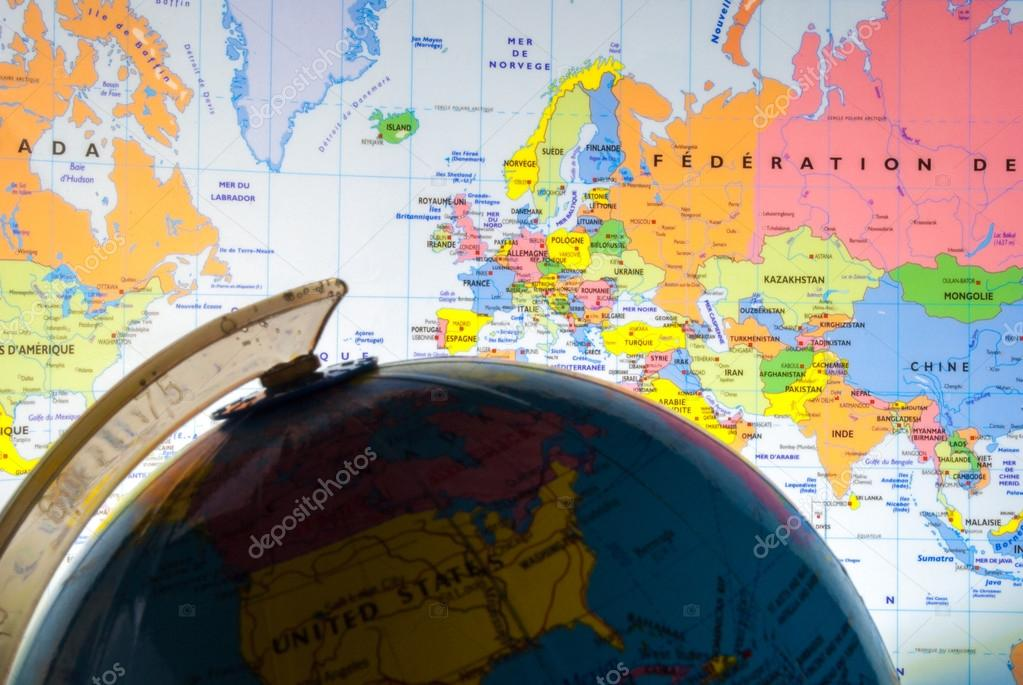 Geografa poltica foto de stock soniacri 64408647 study geography oceans countries and continents with the world map foto de soniacri gumiabroncs Gallery