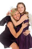 šťastná matka s dcerou