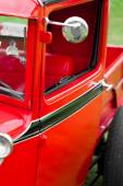 Photo Wing mirror of a classic vintage car