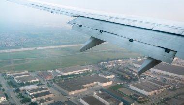 City seen through airplane, Mexico