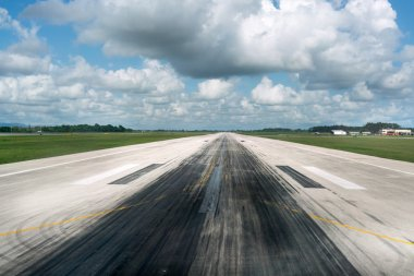 Empty runway of airport