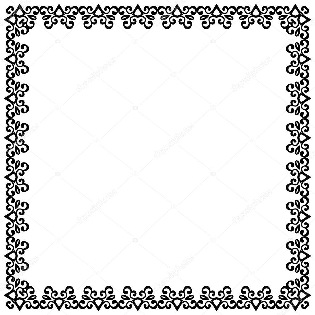 vintage frame border. Decorative Vintage Frame. Border Pattern Vector \u2014 Stock Frame