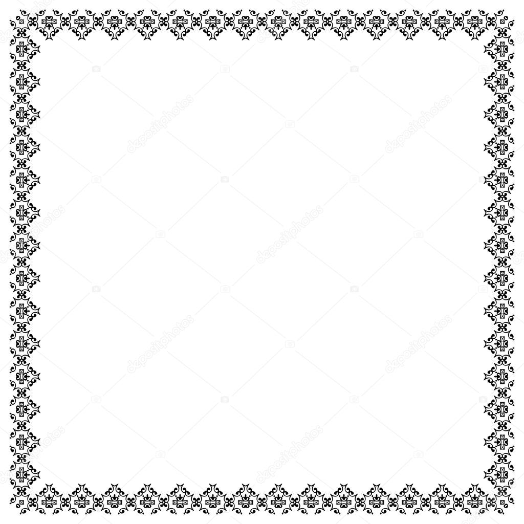 Decorative Vintage Frame Border Pattern Vector Stock