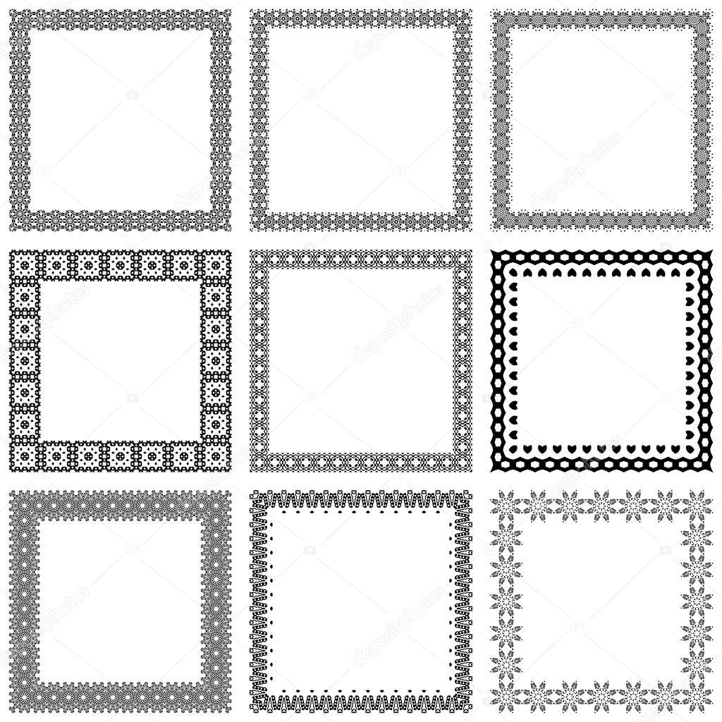 Bekend decoratieve vintage kaders en randen instellen vector #OR62