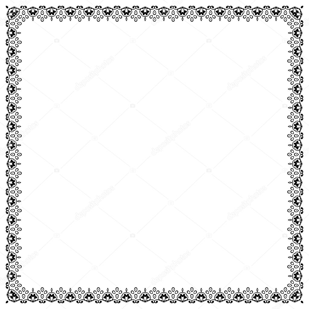 vintage frame border. Decorative Vintage Frame. Border Pattern Vector \u2014 Stock Frame O