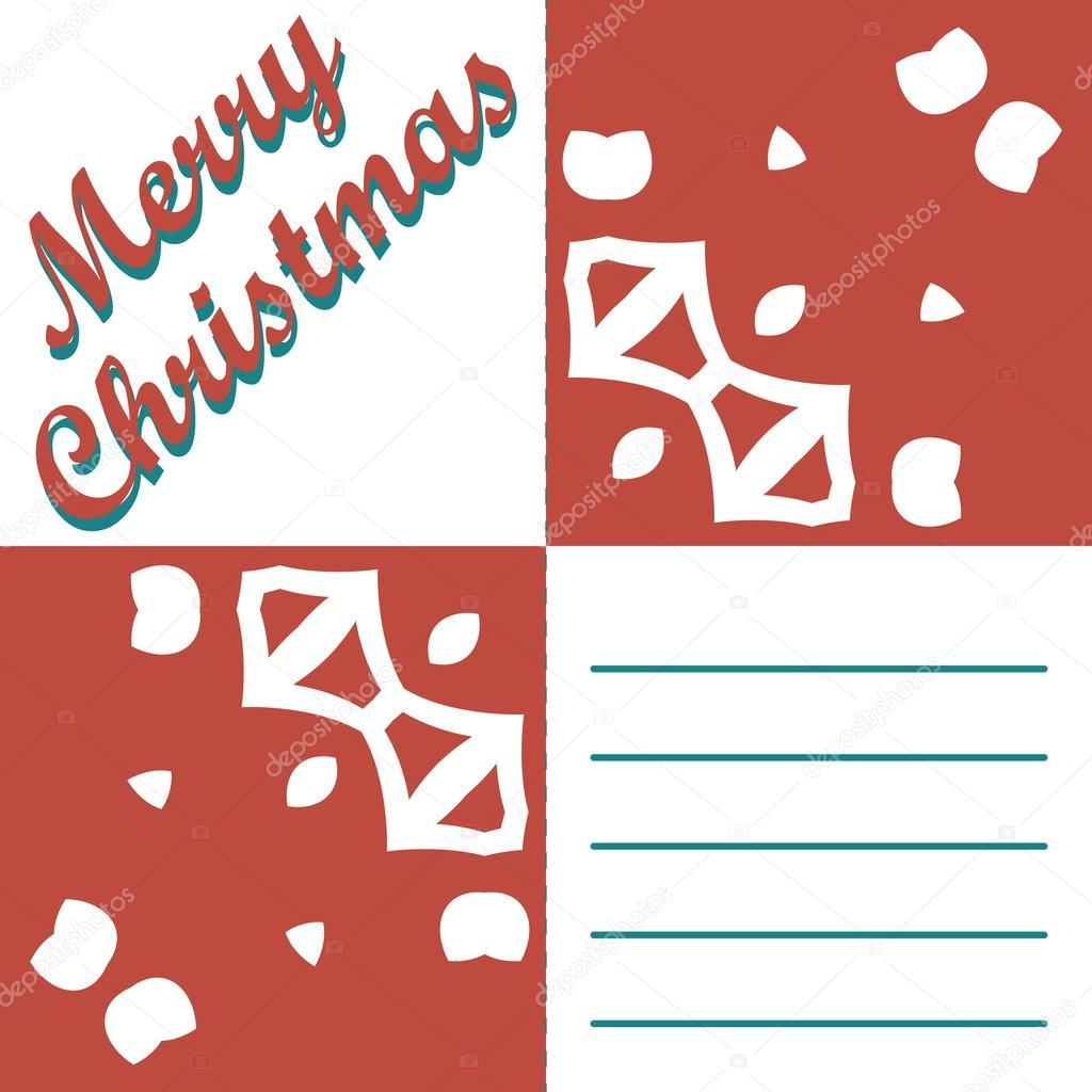 Grußkarte Weihnachten und Muster Vektor Hintergrund. Frohe ...