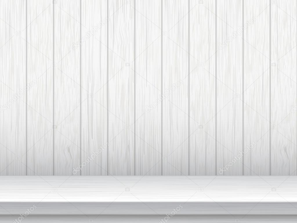 Mesa blanca y fondo de tablas de madera archivo im genes for Mesa blanca y madera