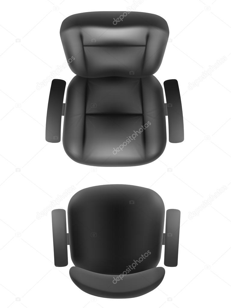 Oficina Silla Y Jefe Sill 243 N Vista Superior Vector De