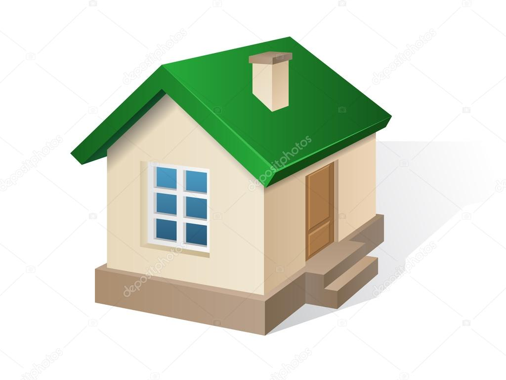 Außergewöhnlich Haus Mit Flachdach Referenz Von — Stockvektor