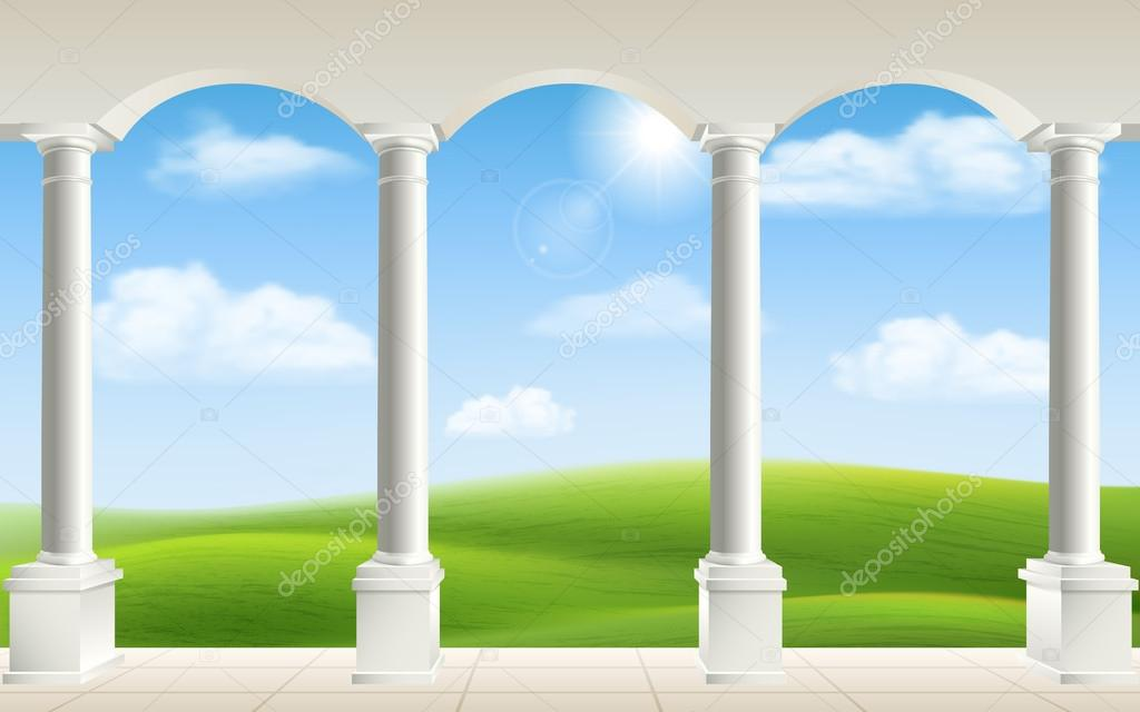 arch columns meadow