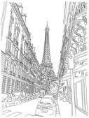 Fotografie Eiffelova věž pohled