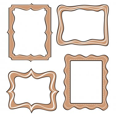 Set of funny picture frame.