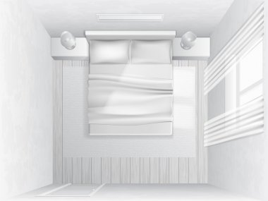 Top view bedroom