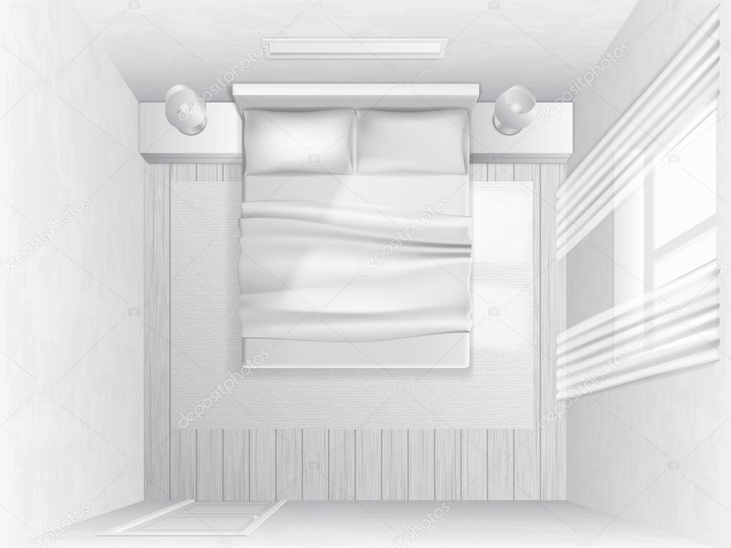 Top View Bedroom Stock Vector C Belikovand 91072370