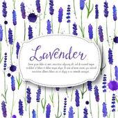 Vector watercolor lavender background