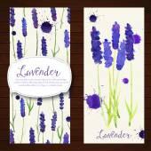 Fotografie Vector eatercolor lavender banners.