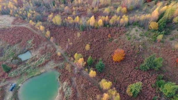 Letecká fotografie cestování na podzim Karpat