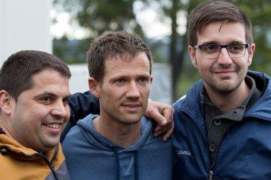 Sebastien Ogier and fans