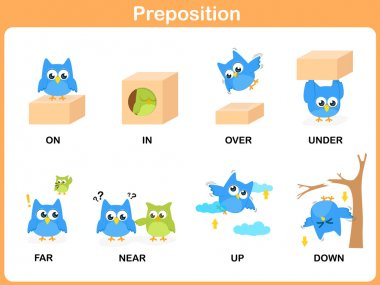 Preposition of motion for preschool