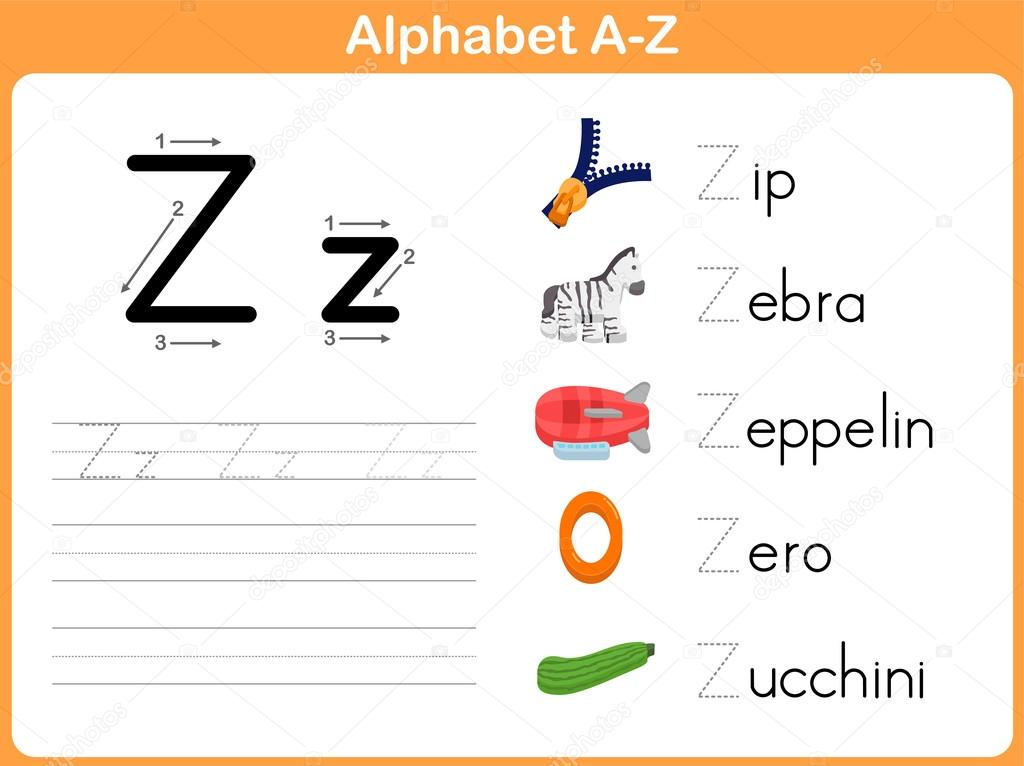 Alphabet Tracing Worksheet Writing AZ Vector aekikuis – Alphabet Tracing Worksheets A-z