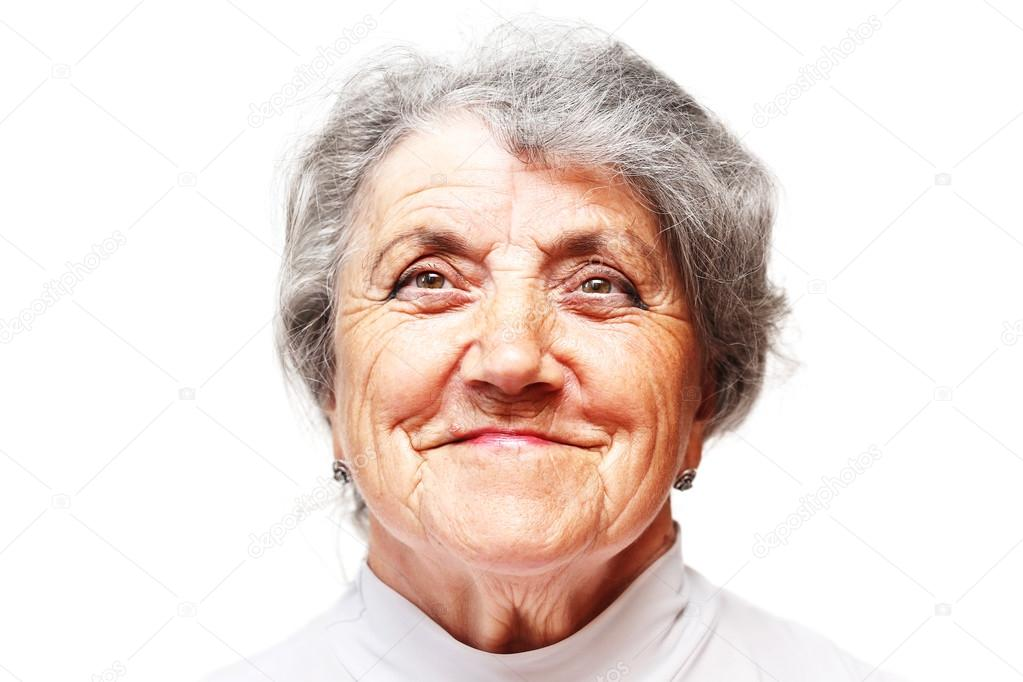 description of old lady face
