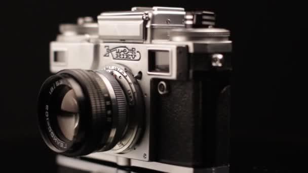 Kyjev 4A 35mm Vintage Photo Camera From 1970s Close Up. SSSR a Ukrainian Brand