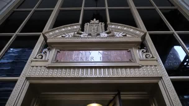 Civic Opera Building und Eingang Drehtür Chicago USA