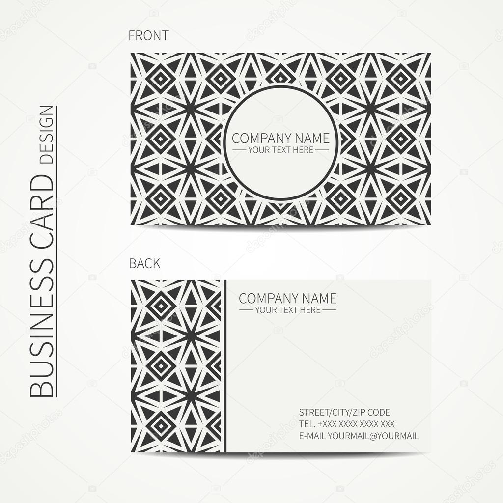 Vector simple business card design template black and white vector simple business card design template black and white business card for corporate reheart Choice Image