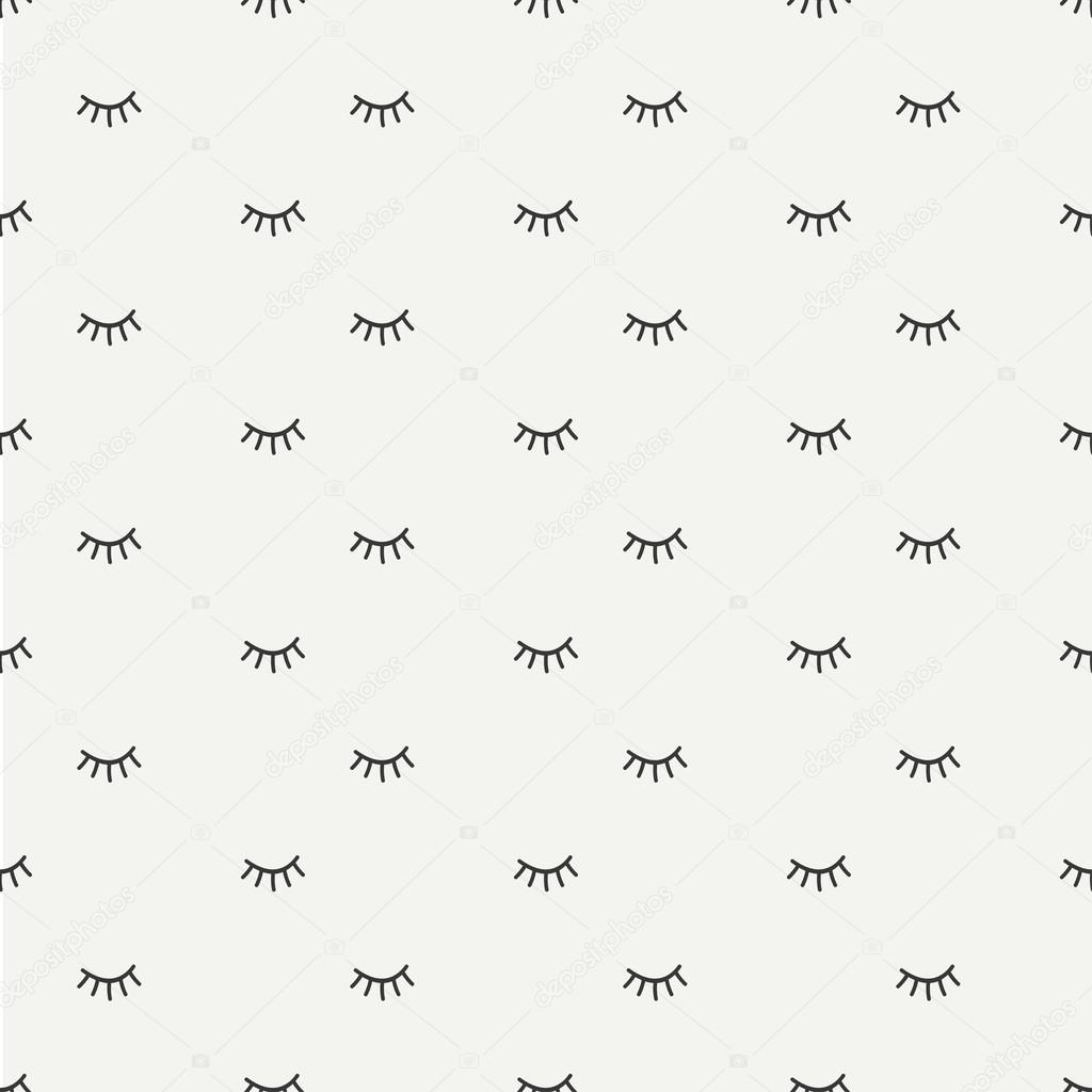 depositphotos_117503680 stock illustration hand drawn seamless pattern with hand drawn seamless pattern with close eyes wrapping paper