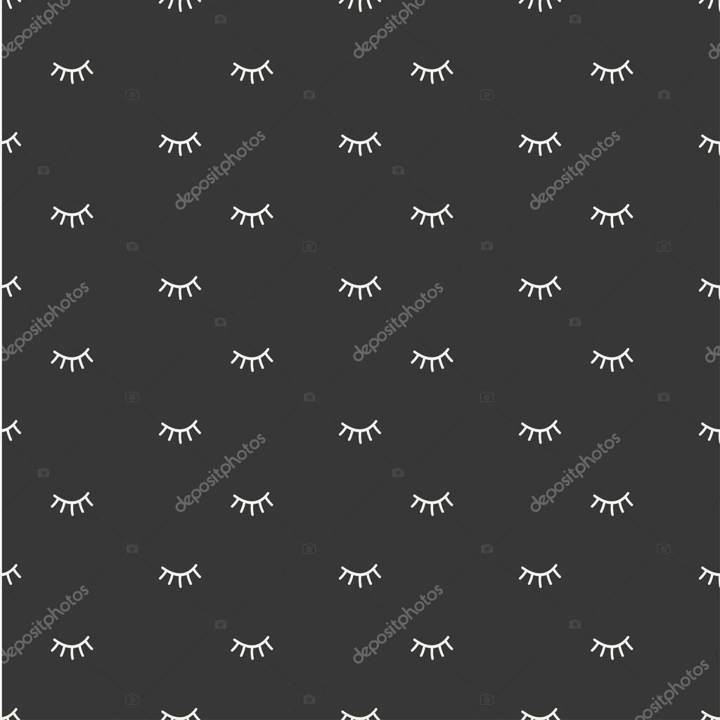 depositphotos_117977958 stock illustration hand drawn seamless pattern with hand drawn seamless pattern with close eyes wrapping paper