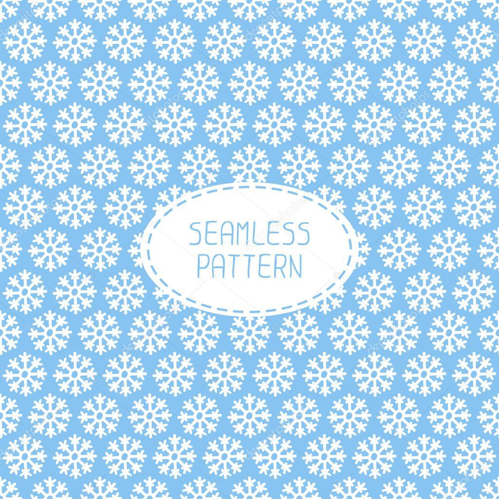 blaue nahtlose Schneeflocken-Muster. Vektor-Schnee-Hintergrund ...