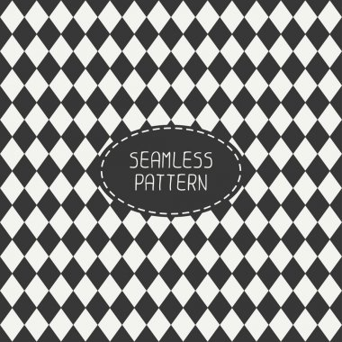Vector seamless retro pattern with vintage hipster rhombuses. For wallpaper, pattern fills, web page background, blog. Stylish texture.