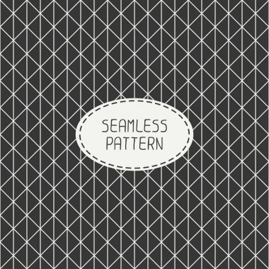 Vector seamless retro vintage geometric hipster line pattern. For wallpaper, pattern fills, web page background, blog. Stylish texture.