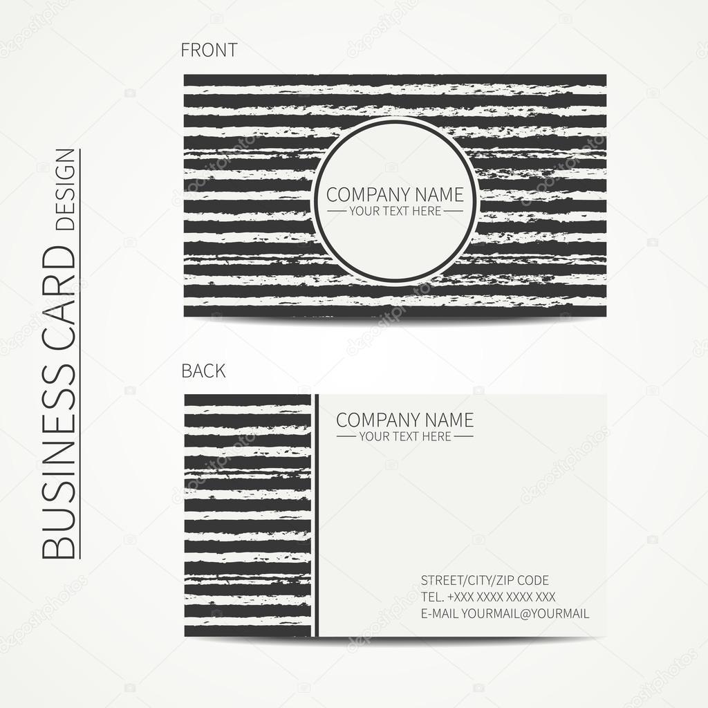 Carte De Visite Monochrome Simple Vintage Modele Pour Votre