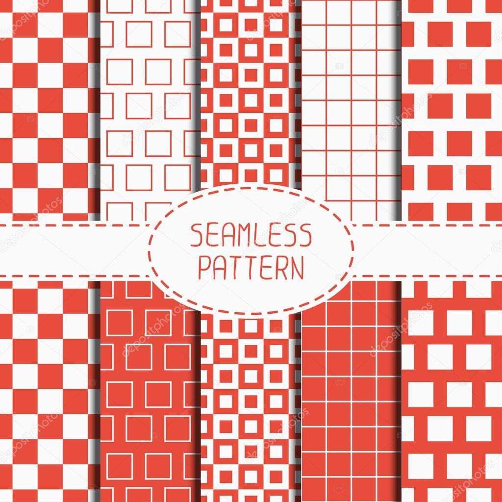 La Valeur Du Motif Transparent Rouge Geometrique Avec Des Carres