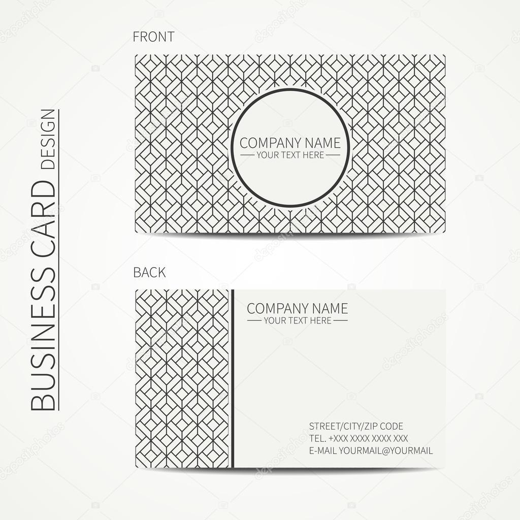 Modle Du Cube Gomtrique Monochrome Carte De Visite Pour Votre Conception Motif Losanges Carrs Effet Dillusion Doptique